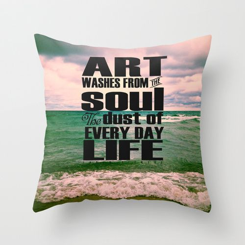 I discovered this Art Washes From the Soul the Every Day Dust of Life Throw Pillow by Olivia Joy StClaire on Keep. View it now.