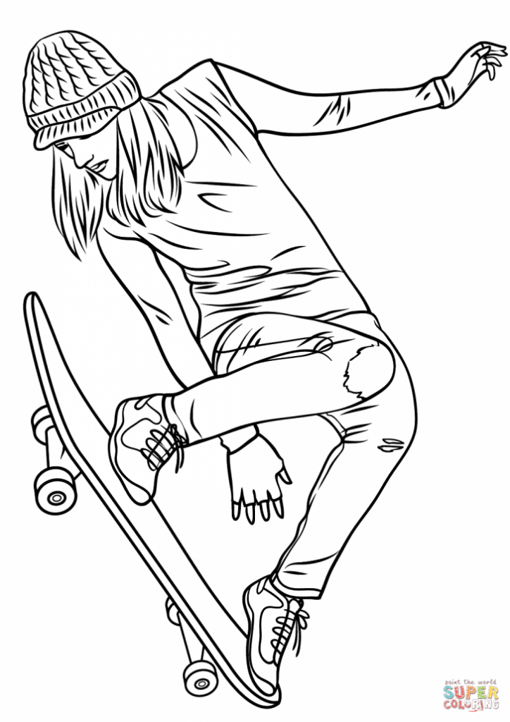 Coloring Rocks Skateboarder Drawing Cool Coloring Pages Coloring Pages For Girls