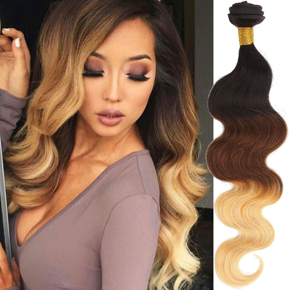 4bundles New Brazilian Ombre Human Hair Extension 12 30 Body Wave