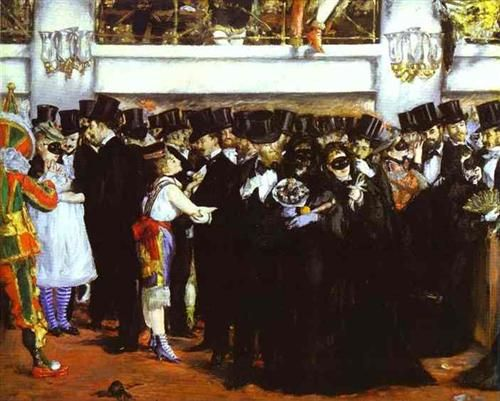 The Masked Ball at the Opera - Edouard Manet