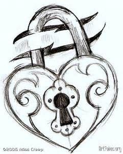 Cadenas Coeur Art Dessin Dessins Damour Et Facile à Dessiner