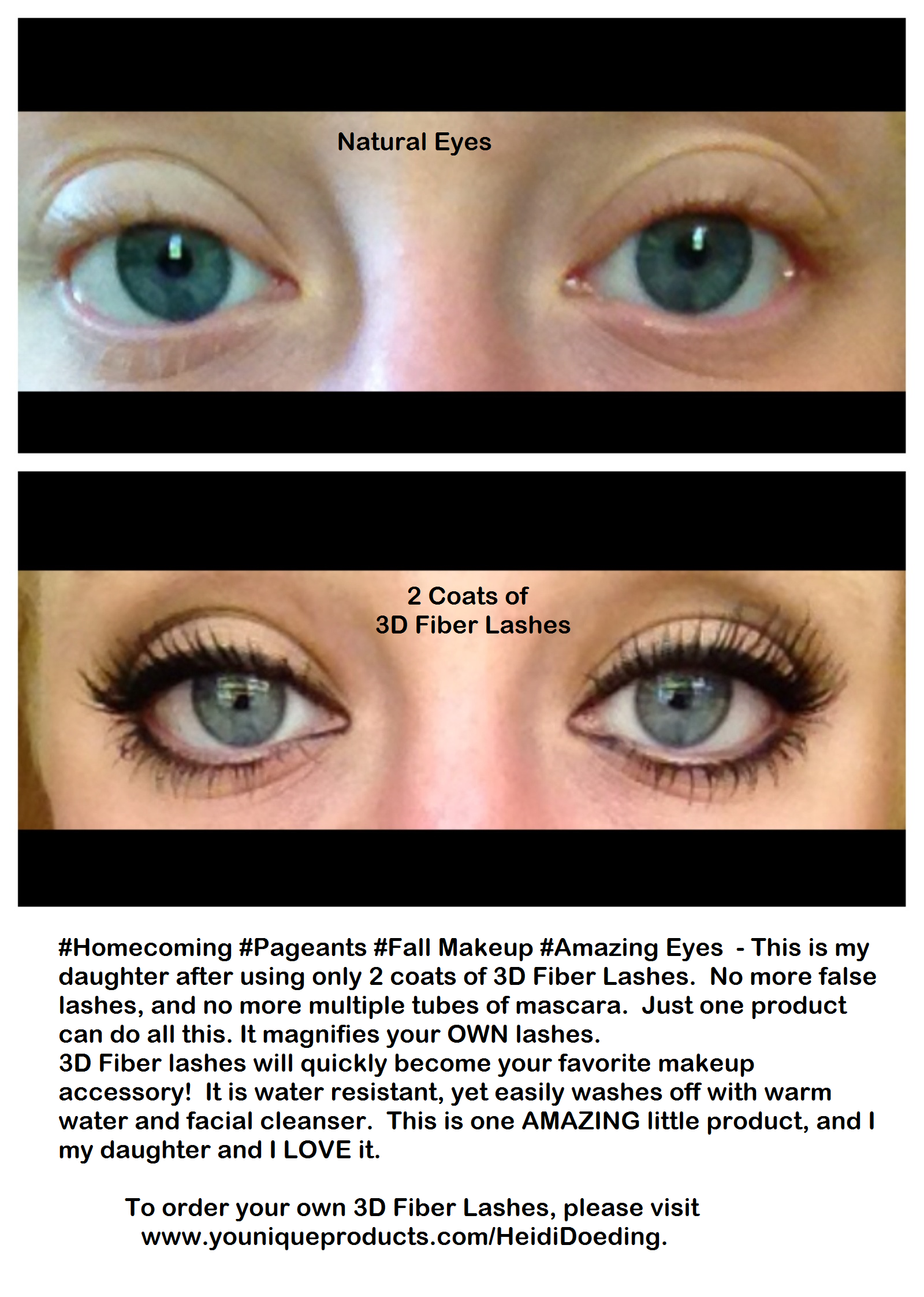 3ac0c777821 Fall Makeup, Homecoming, Pageants.. Younique 3-D Fiber Lash Mascara!