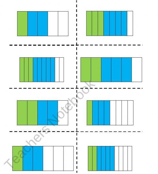 Adding fractions visual worksheet. | Teaching tools and ideas ...