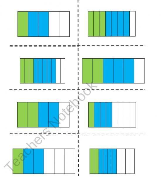Adding Fractions Visual Worksheet Fractions Math Instruction Adding Fractions Adding fractions using models worksheets