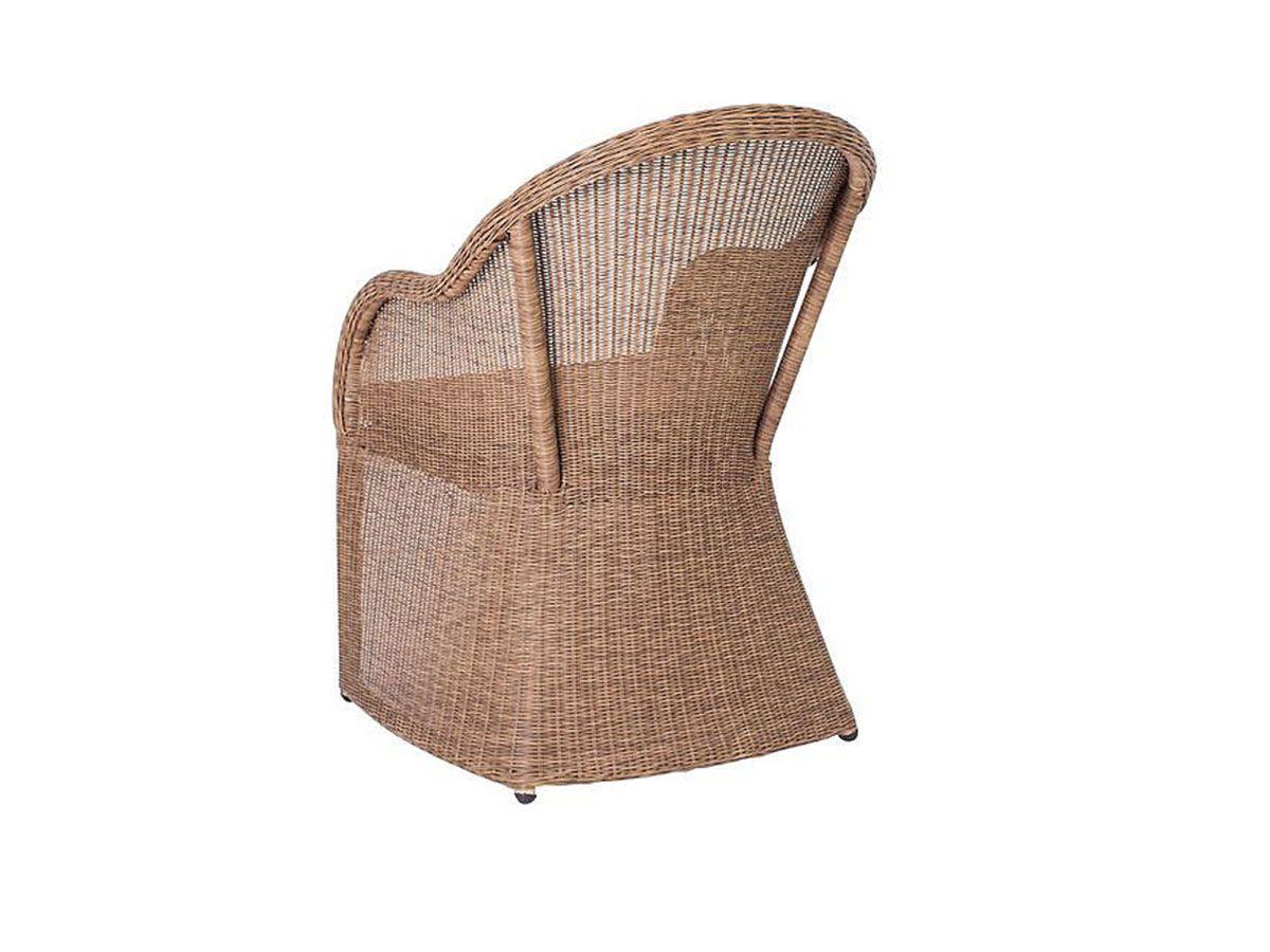 Stern Gartensessel Mineo Geflecht natur antik Kissen taupe Hocker kaufen im borono Online Shop
