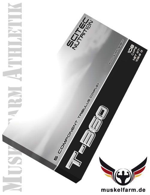 Scitec Nutrition T-360 (Testopump) mit Tribulus Terrestris Extrakt, L-Arginin, 2-fach Carnitin und Zink, zur Unterstützung des Testosteronspiegels.