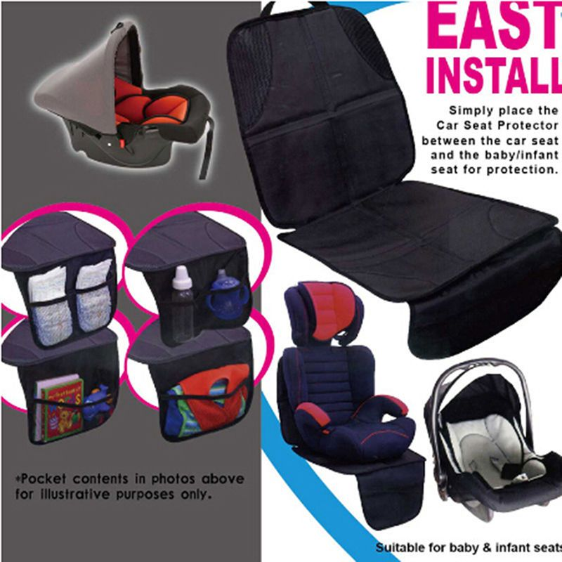 UK Waterproof Baby Car Seat Protector Non-Slip Child Safety Mat Cushion Cover