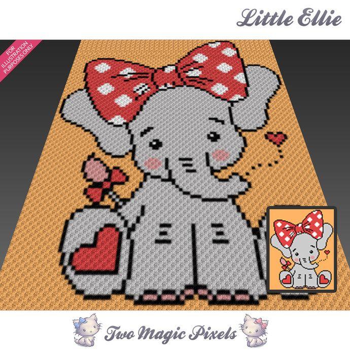 Little Ellie Crochet Blanket Pattern C2c Cross Stitch Graph Pdf