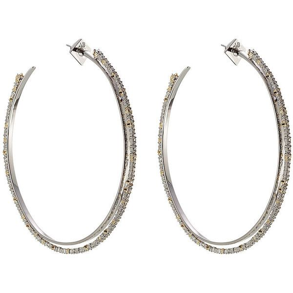 Alexis Bittar 10kt Gold Hoop Earring 325 liked on Polyvore