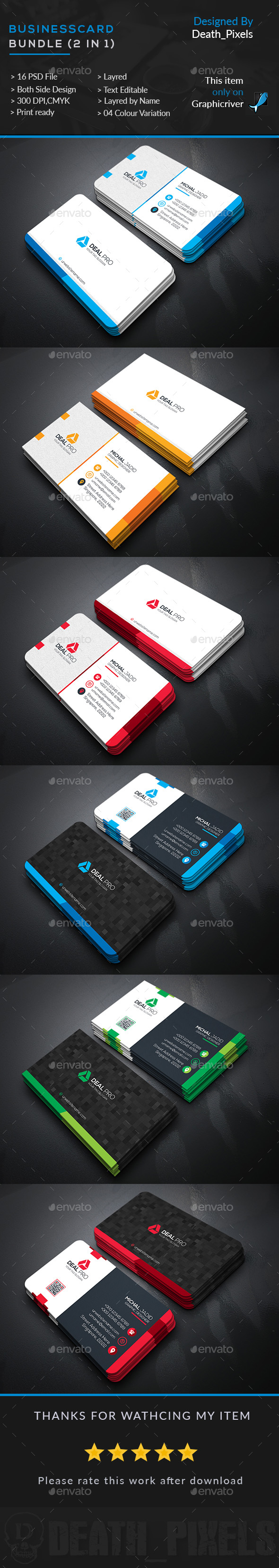 Business Card #Bundle (2 in 1) - Business #Cards Print Templates ...