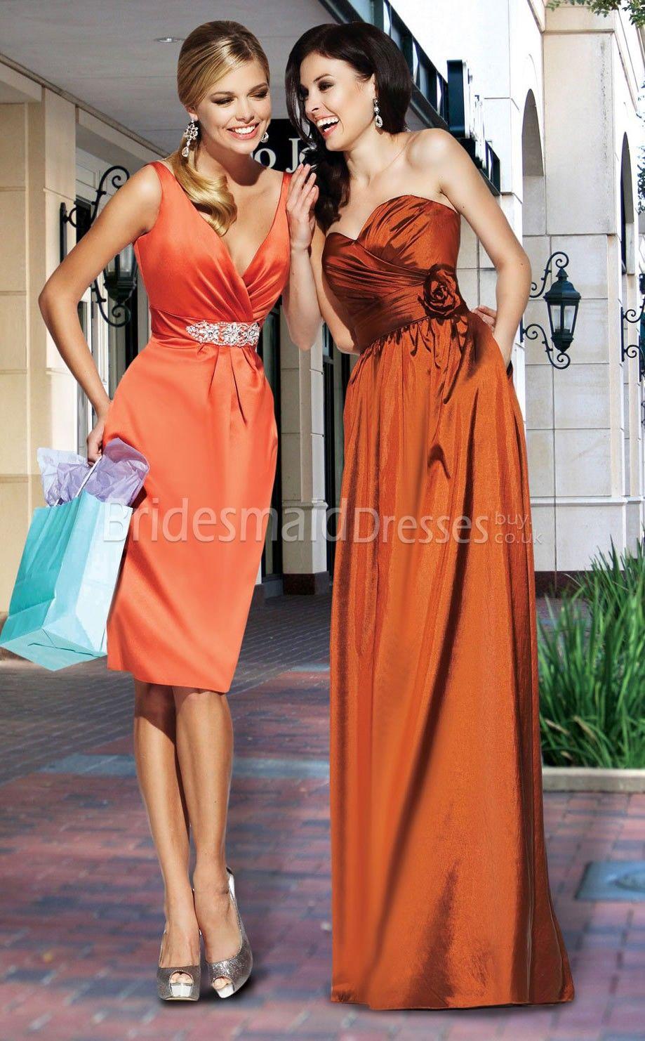 Beautiful street stylered bridesmaid dresseslong bridesmaid