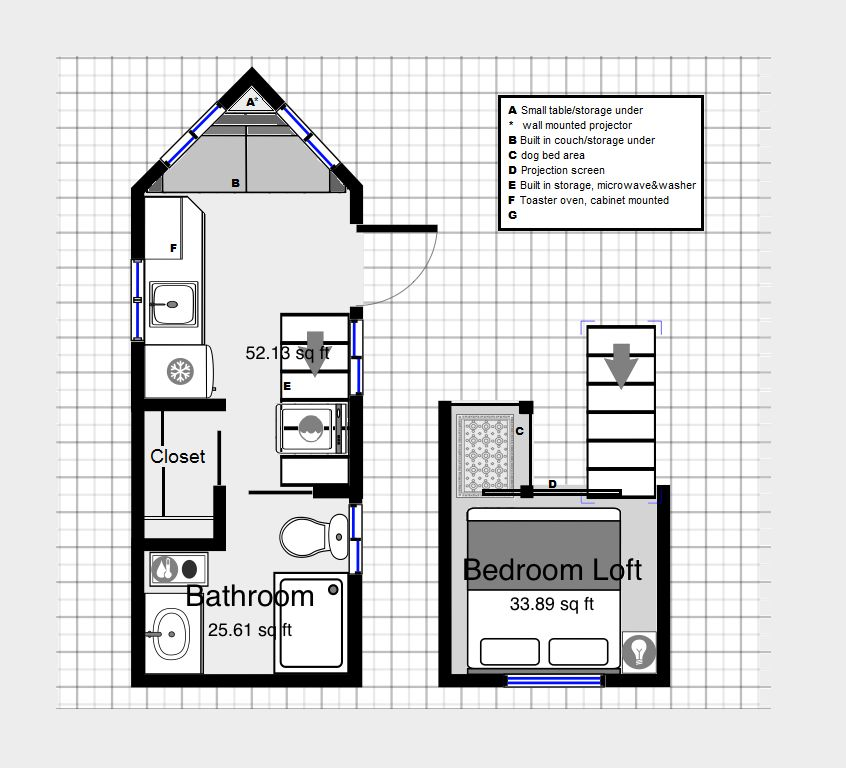 Tiny Home Design App: First Very Rough Draft Of My Tiny Home.. The Magicplan App
