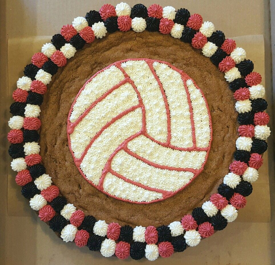 Another Volleyball Cookie Cake Cookie Cake Birthday Cookie Cake Designs Cookie Cake