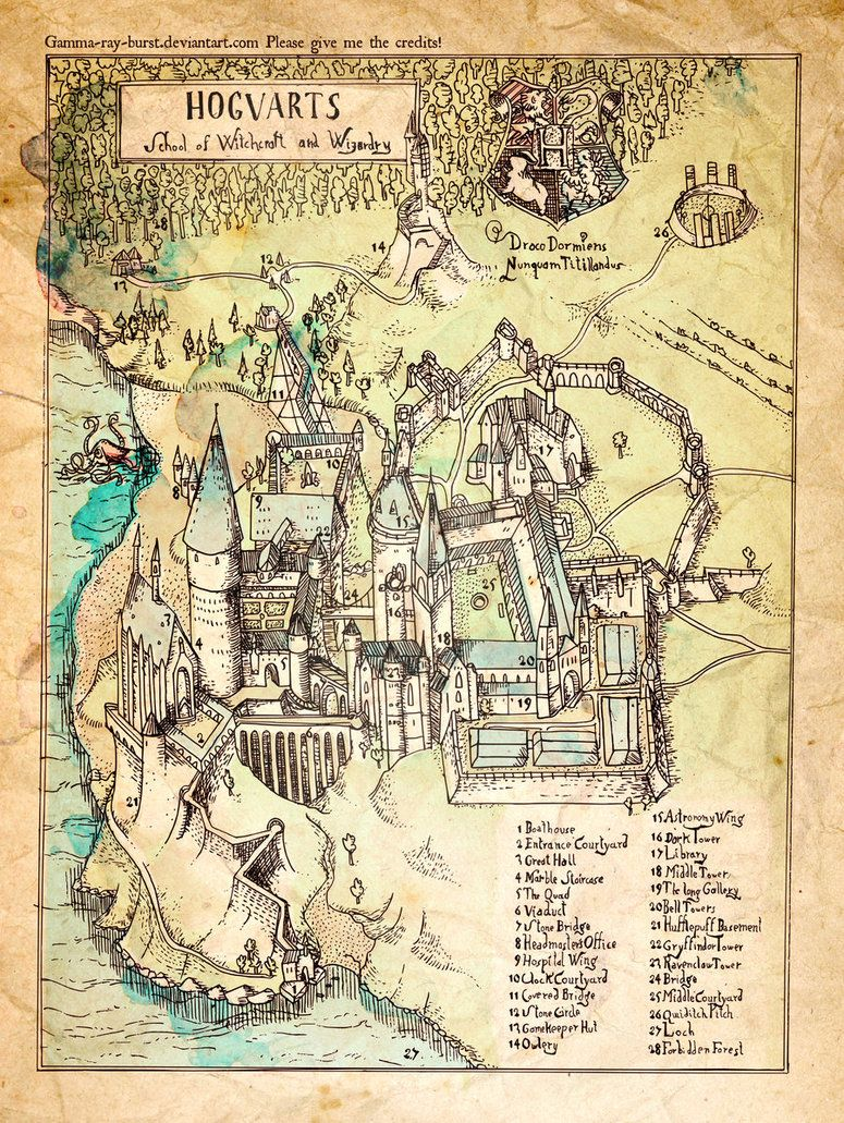 Map of Hogwarts (I think they forgot to label where ...