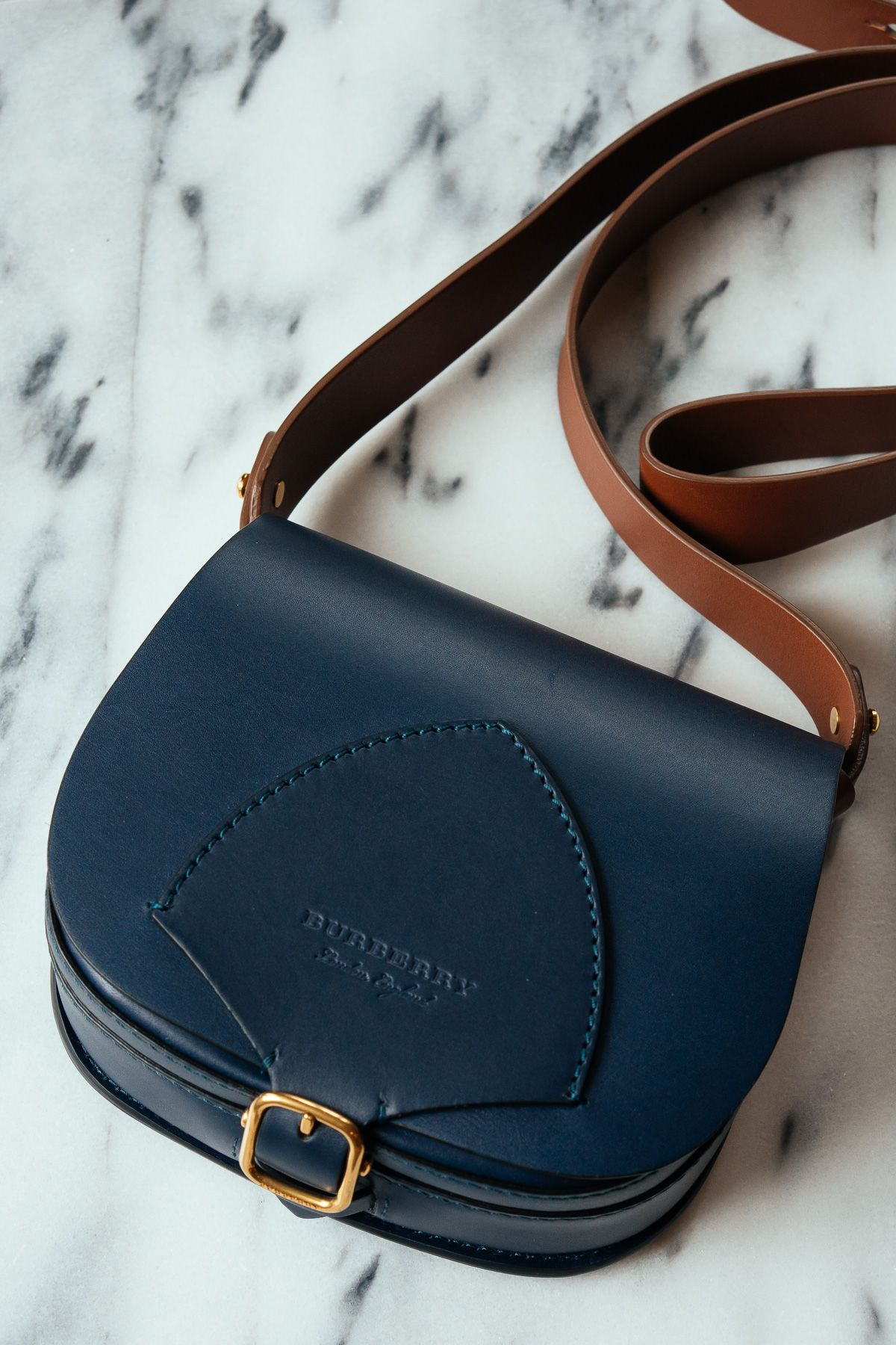 65e38fc4aa5 1395 Meet Our Latest Bag Crush  The Burberry Satchel in Indigo Leather -  PurseBlog