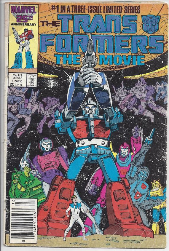 Marvel Transformers The Movie Comic Book 1 by FloridaFindersPaper, $3.00