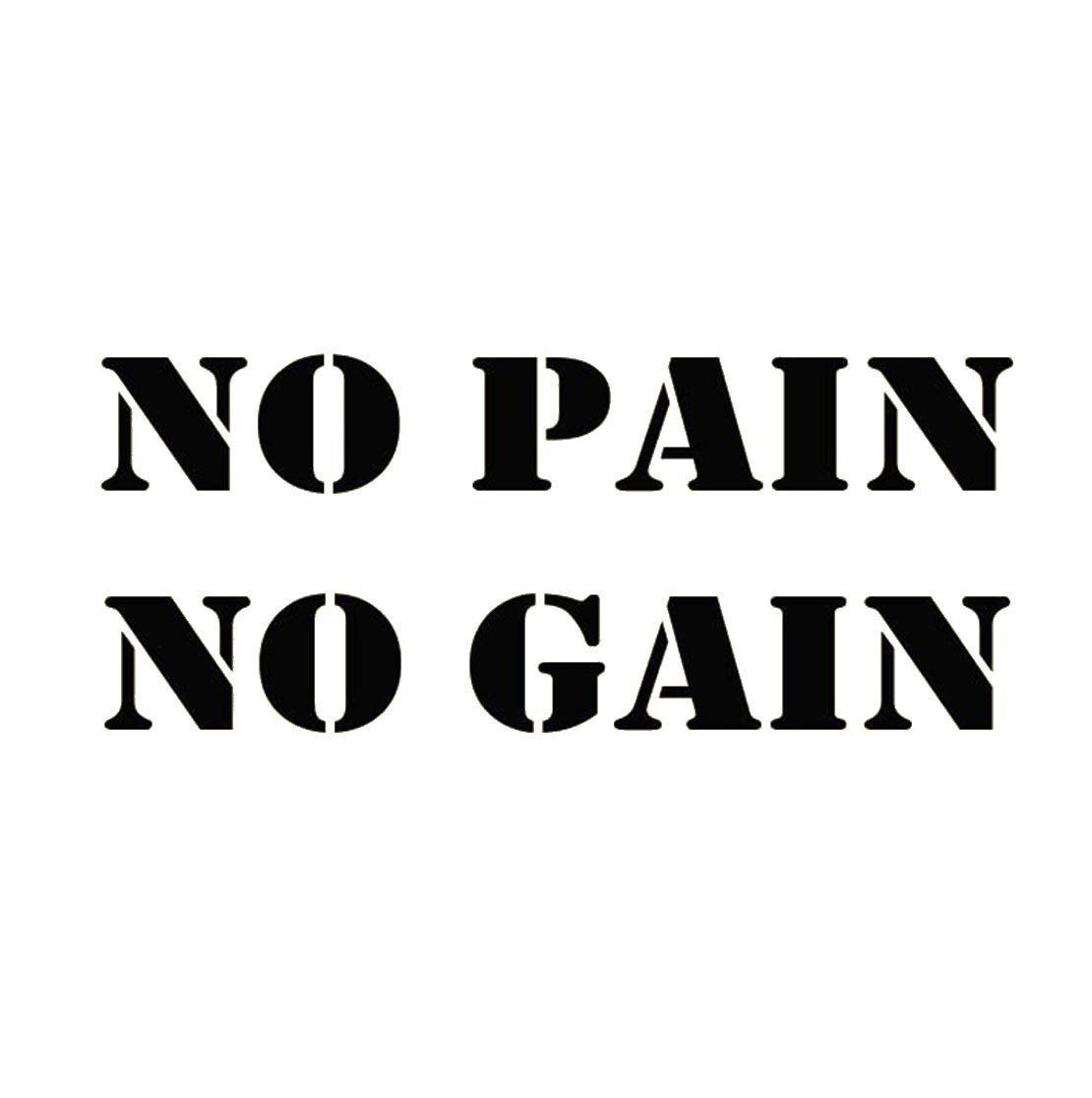 Crystal emotion no pain no gain exercise workout gym health and