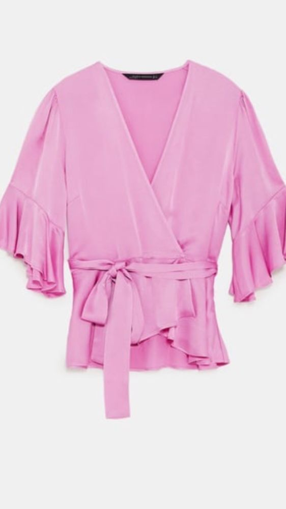 39be39250daf7 Zara Lilac   Pink Satin   Silk Wrap Blouse M Brand New  fashion  clothing   shoes  accessories  womensclothing  tops (ebay link)