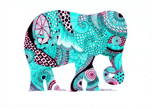 More elephant art.