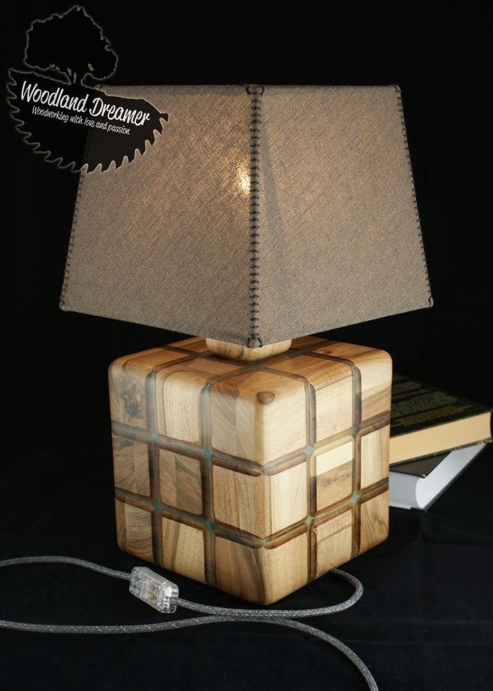Unusual Table Lamp Industrial Lamps Office Lamp Modern Wood Lamp Wood Lamp Resin Lamp Wood Art Wood And Resin Bedroom Night Lamp Unusual Table Lamps Wood Lamps Lamp