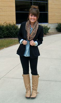 women business casual with boots  google search