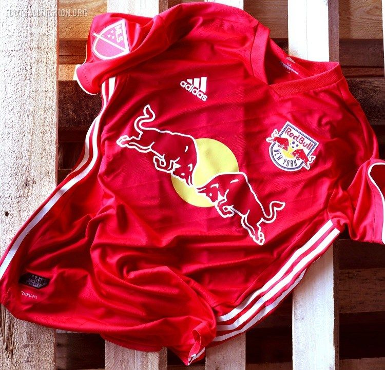 hot sale online a0eb9 74d0f New York Red Bulls 2018 adidas Red Jersey   sukan   Ny red ...