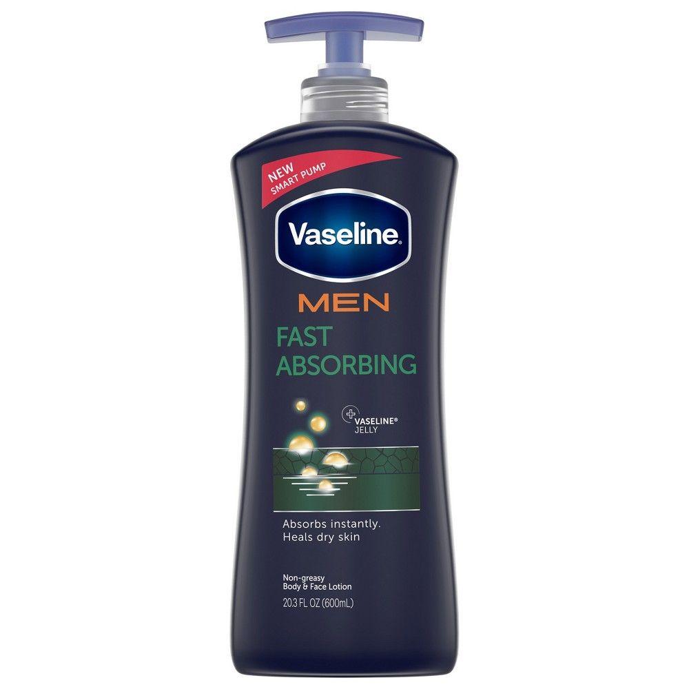 Vaseline Men Healing Moisture Fast Absorbing Body Face Lotion