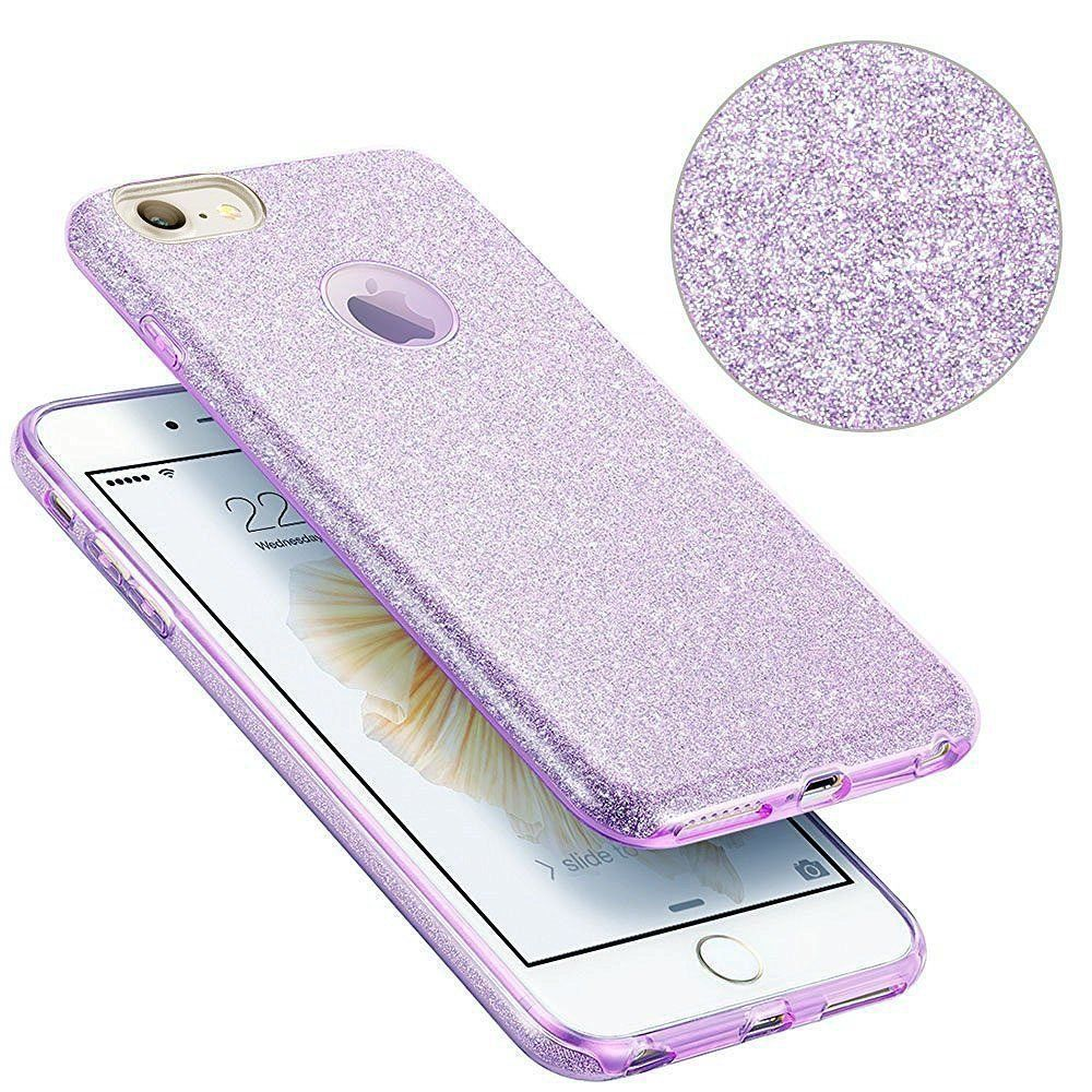 in stock 53fb3 ffbbf For iPhone 8 Plus Case Eraglow Back Cover Sparkle Shinning ...
