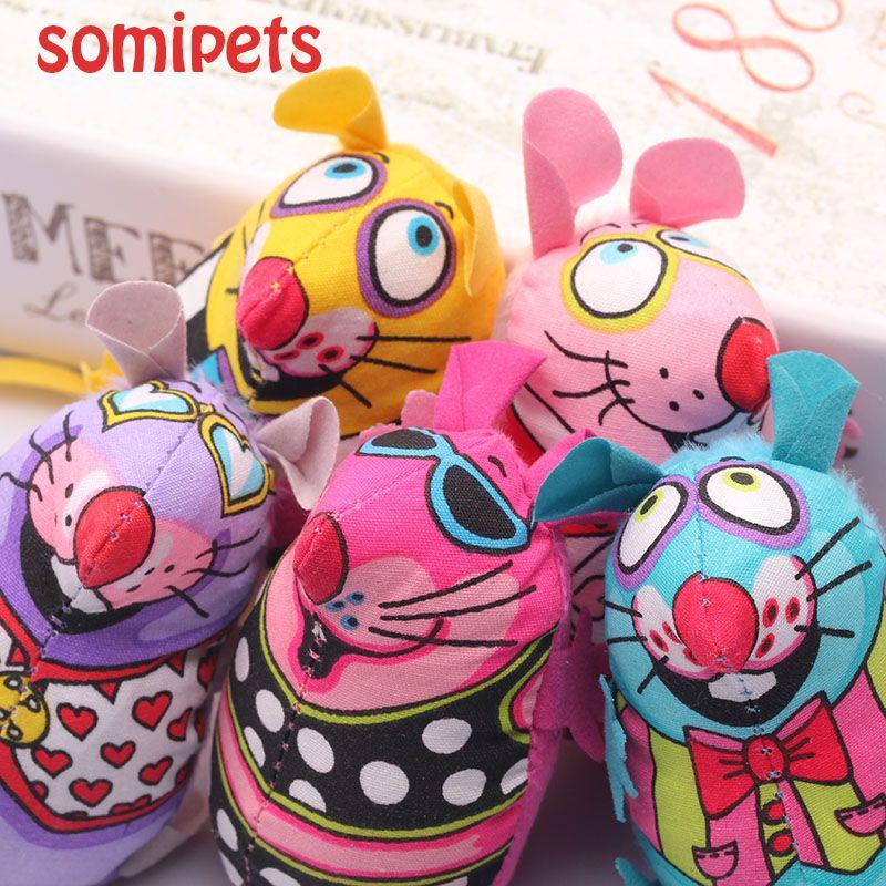 Grasa interactivo de lujo Catnip Cat Toy Cat Fat lona colorido ratón menta gato productos para mascotas ratón divertidos divertidos juguetes para Cat juguetes del ratón