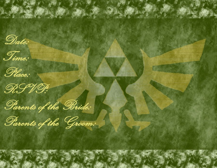 Zelda wedding invitation by twiligirl1 legend of zelda zelda wedding invitation by twiligirl1 stopboris Choice Image