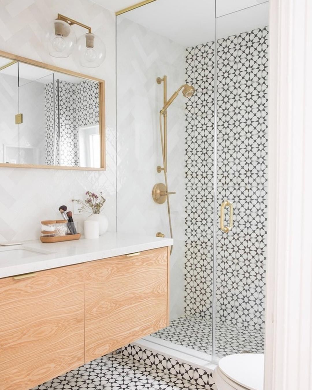 Build Com Home Improvement On Instagram Warm Up The Shower Without Even Getting Out Of Bed And You Ll In 2020 Patterned Bathroom Tiles Cement Tile Shop Tile Bathroom