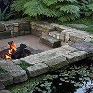 Pedra Foc I Aigua Ideias De Jardinagem Paisagismo Poco De Fogo