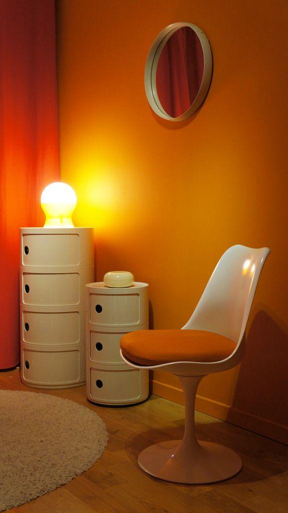 part of p a m the orange room en 2019 orange pinterest meuble ann e 70 mobilier de salon. Black Bedroom Furniture Sets. Home Design Ideas