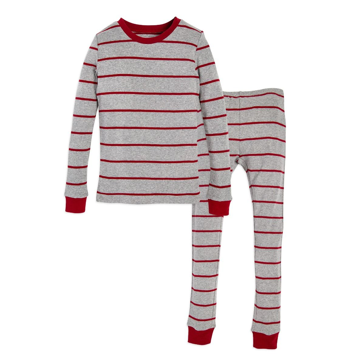 68316832a Gingerbread Stripe Organic Big Kids Family Matching Pajamas