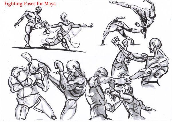 fighting poses for maya03 by AlexBaxtheDarkSide.deviantart.com on @deviantART