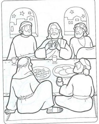 Last Supper Bible Coloring Page