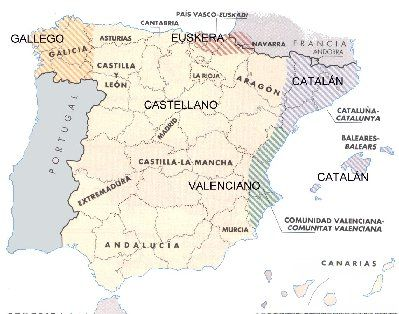 Mapa Lenguas De España.Lenguas De Espana Great Chart With Examples Of Some Basic