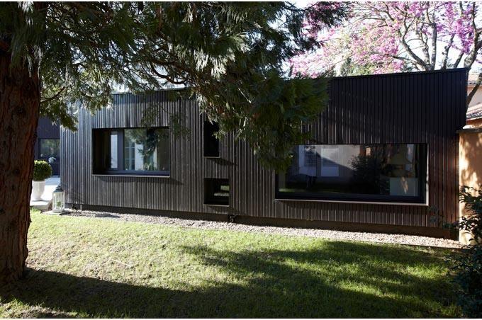 Fa ade maison bardage bois peint id es pour la maison fa ade maison bardage bois et bardage - Facade maison en bois ...