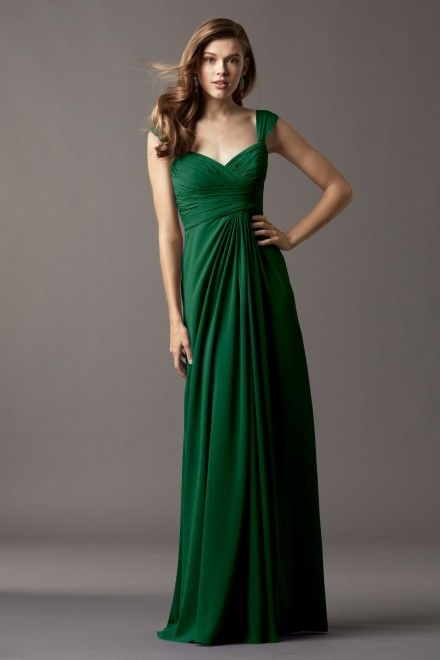 Emerald green bridesmaids dress Watters Maids Dress