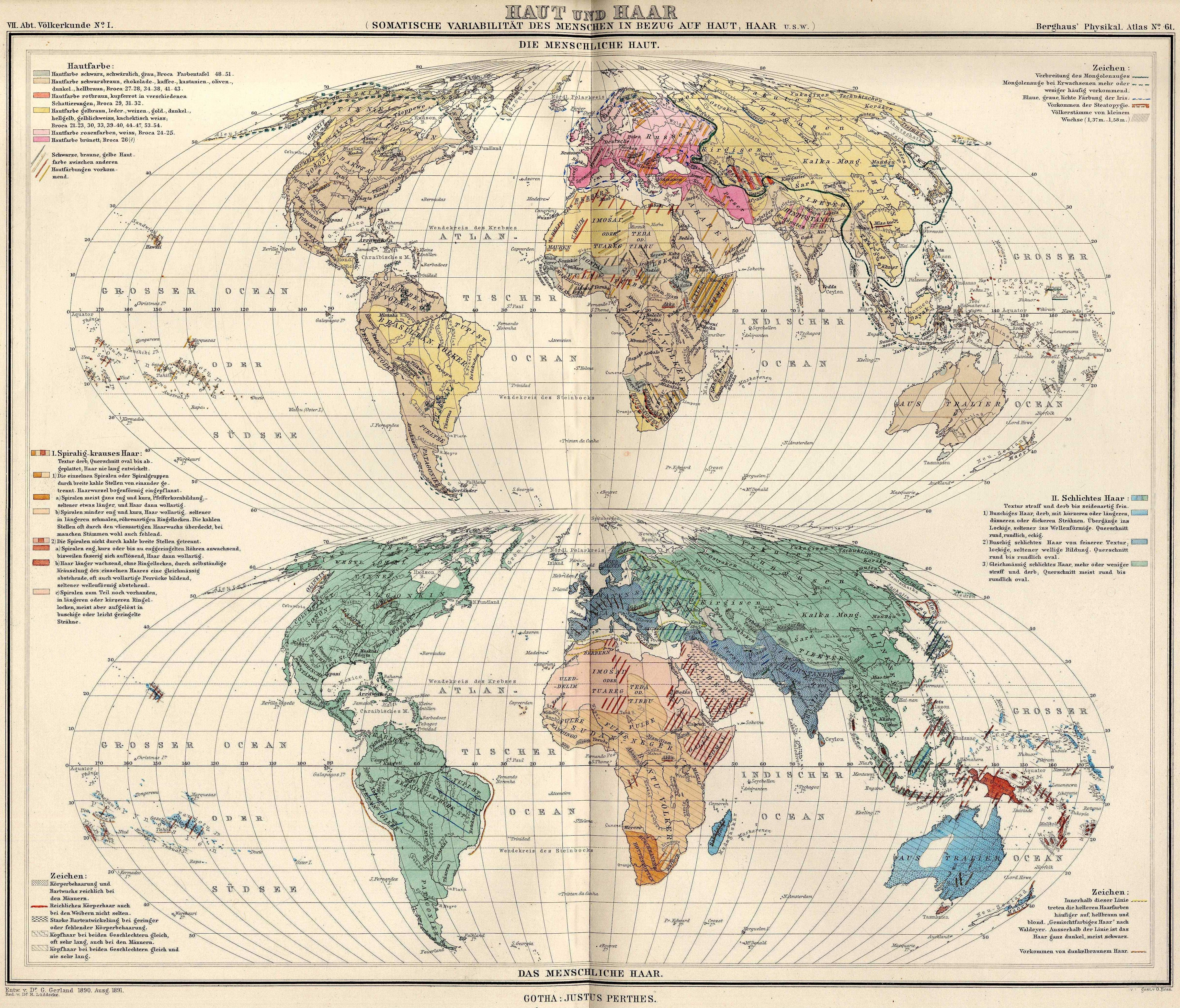 1892 Map Of The World.Human Skin And Hair World Map 1892 Mapmania Pinterest Map