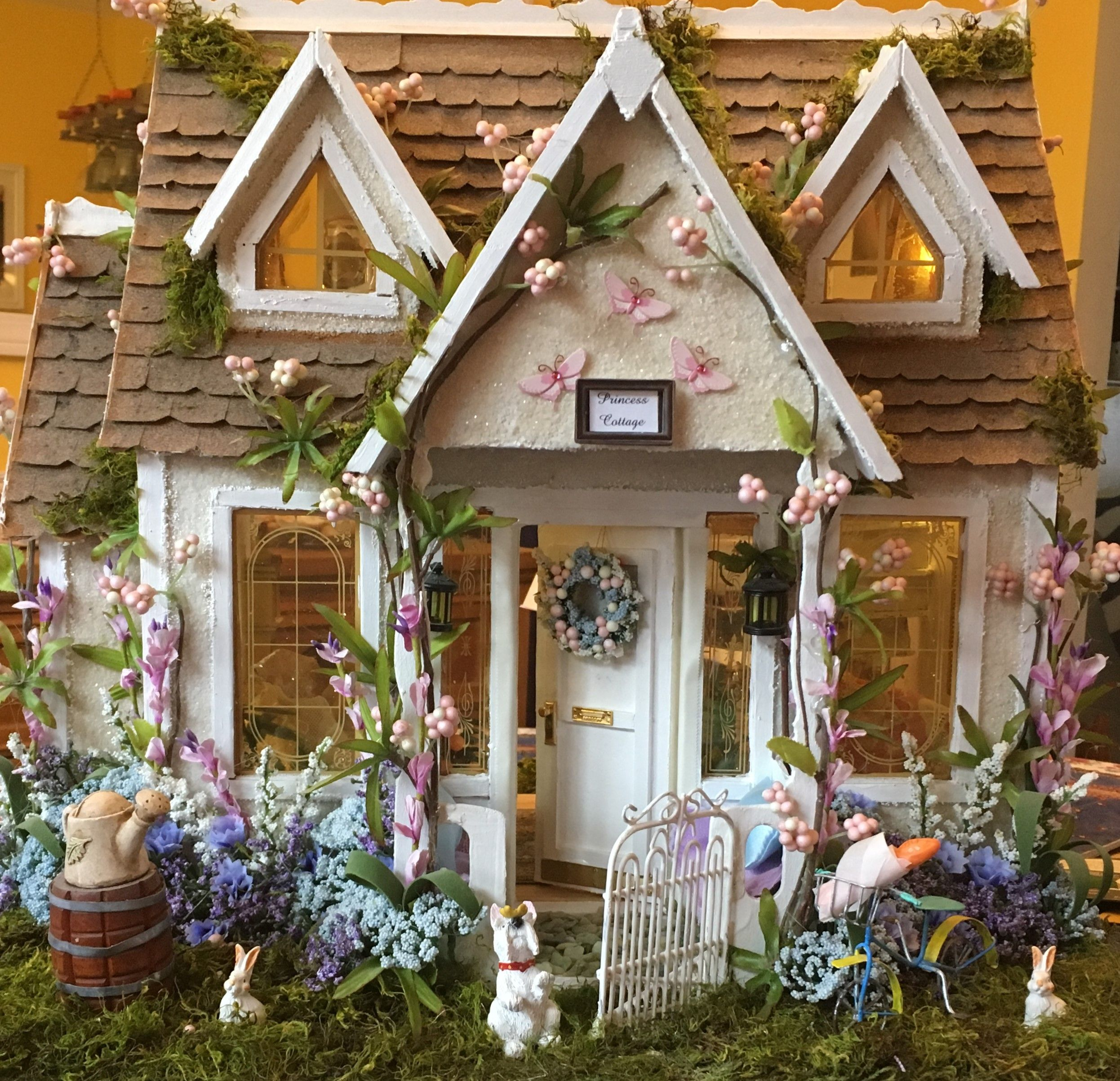 The Princess Cottage Dollhouse Exterior Doll House Plans Glitter Houses Miniature Houses