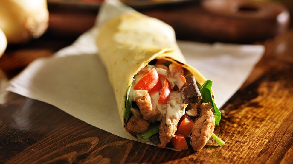 Wrap au poulet et sa salsa