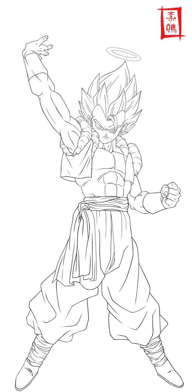Ultimate Gogeta Lineart By Snakou With Images Dragon Ball
