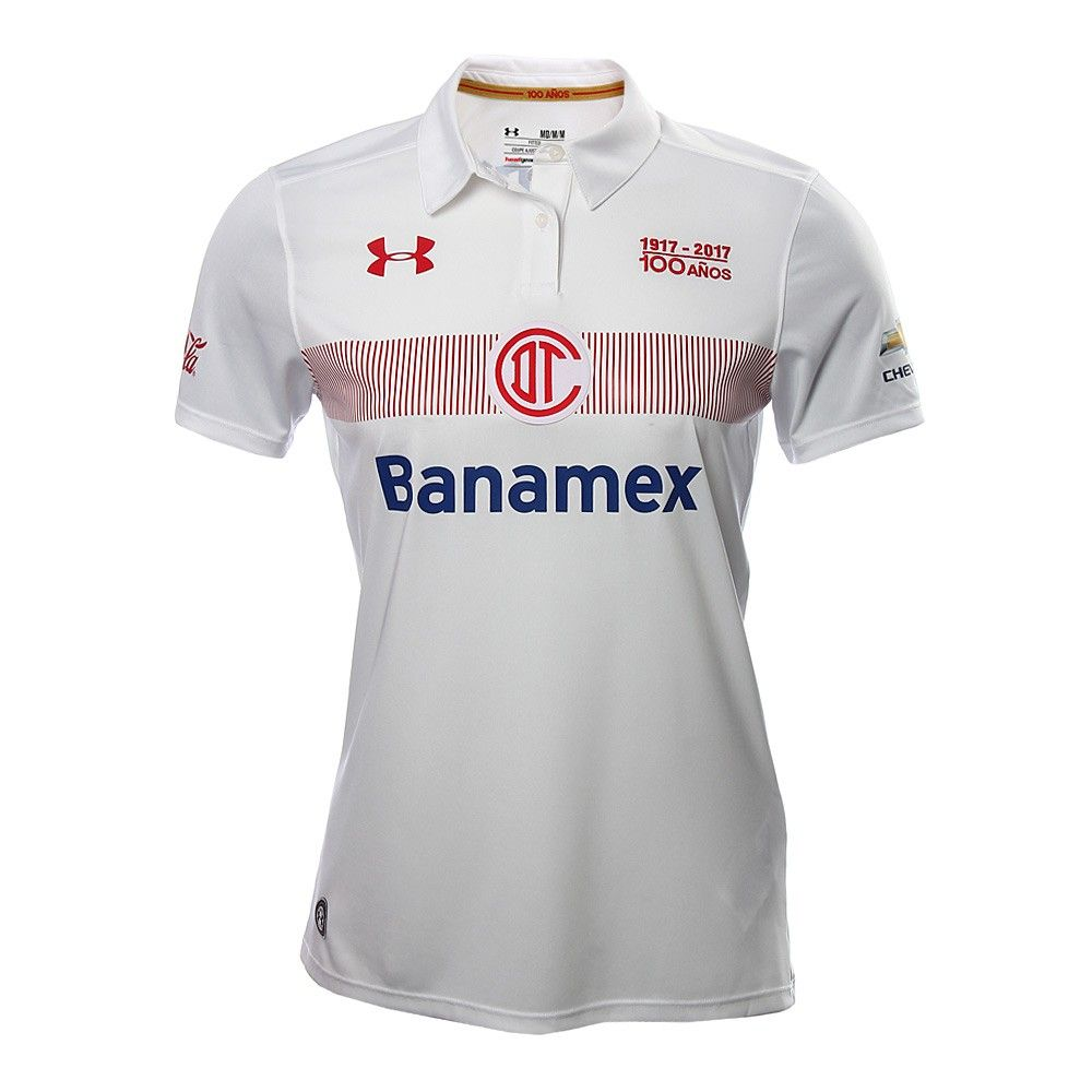 best sneakers bc06a d69f5 Deportivo Toluca FC (Mexico) - 2016/2017 Under Armour Away ...