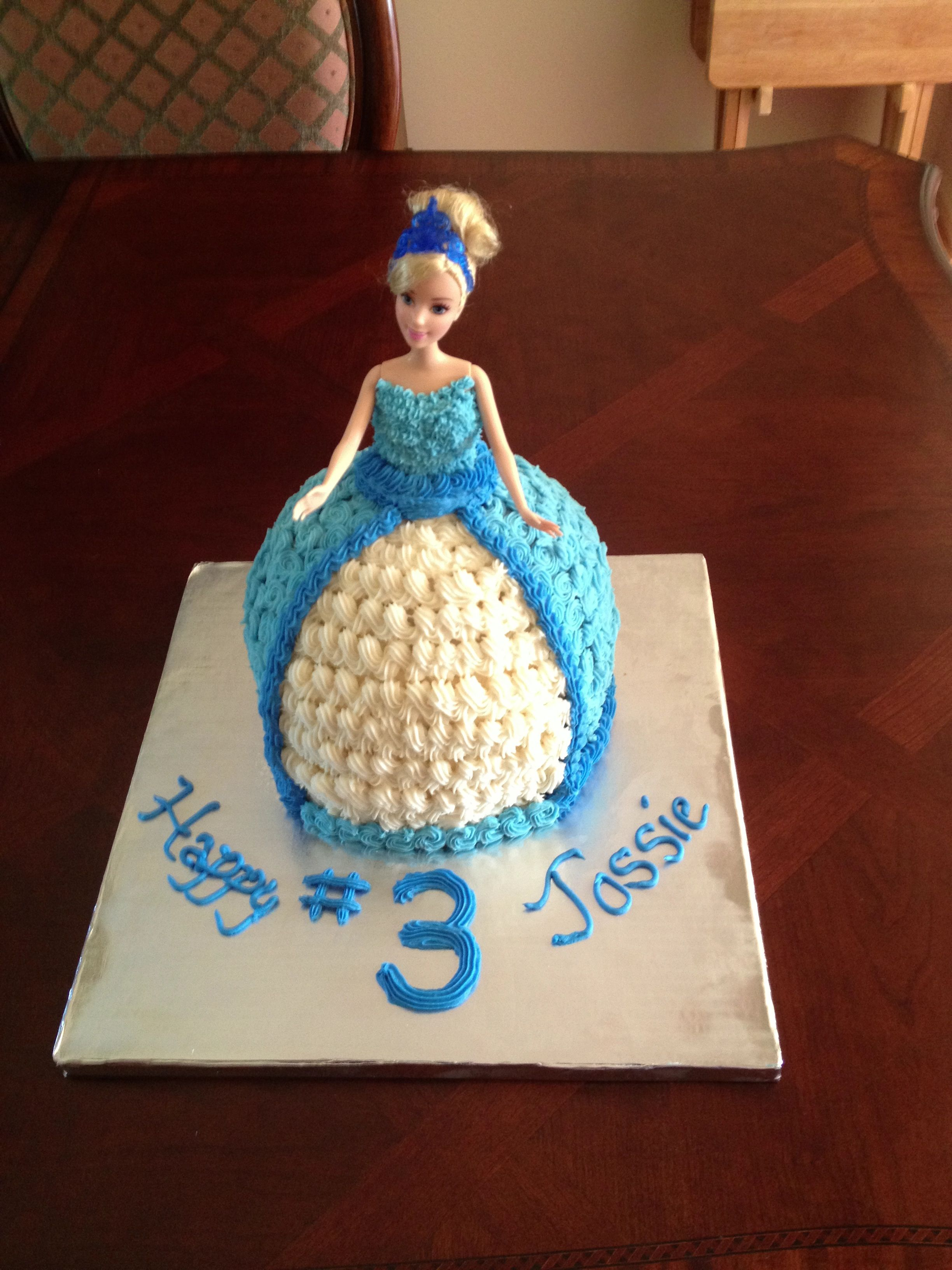 Cinderella Doll Cake Chocolate Chip With Buttercream Icing