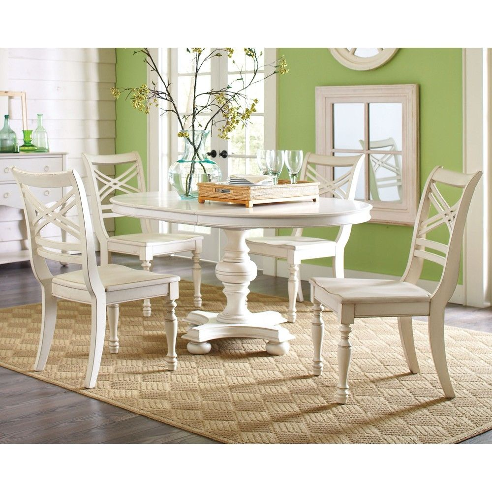 White round kitchen table and chairs set