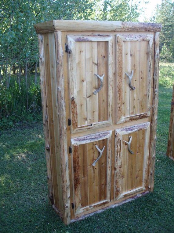 Beau Image Detail For  Custom Rustic Northern White Cedar Storage Cabinet