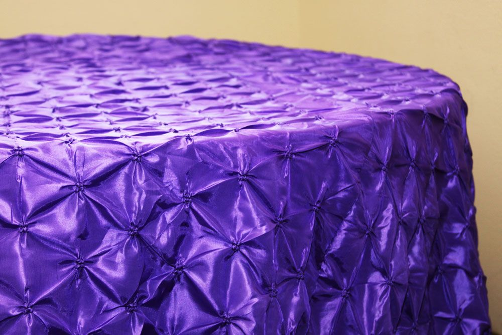 """120"""" Pinchwheel Round Tablecloth Purple (With images"""