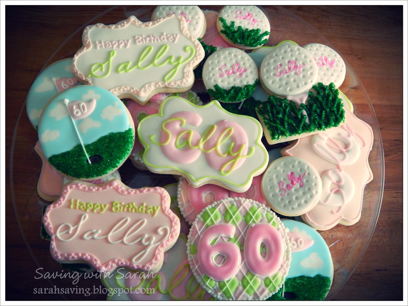 Golf Birthday Cookies decorated cookies, #golfcookies #golfbirthday