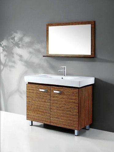 40 Contemporary Bath Vanity In Zebrawood